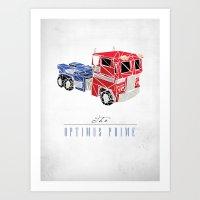 optimus prime Art Prints featuring The Optimus Prime by Josh Ln