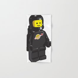 Vintage Black Spaceman Minifig Hand & Bath Towel