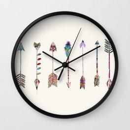 seven little arrows Wall Clock