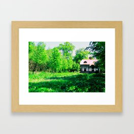 Cottage in Spring Framed Art Print