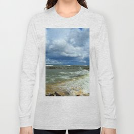 Waves at Whitefish Point Long Sleeve T-shirt