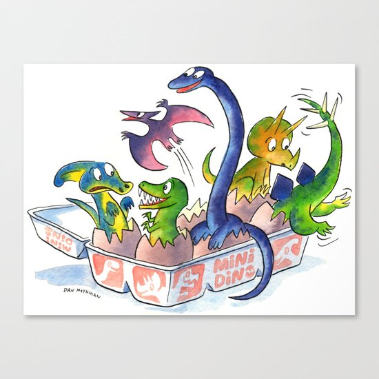 Mini Dinos Canvas Print