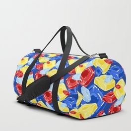Square Hard Candy on Dark Blue Duffle Bag