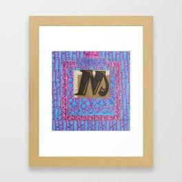 Alpha-Numero: M Framed Art Print