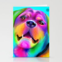 rottweiler Stationery Cards featuring Funky Rottweiler by Sally Rowland Art