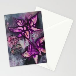 Graffiti Floral Lotus (by912-StreetDreams) Stationery Cards