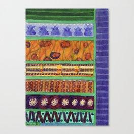 Bordered Catchy Creative Stripes Canvas Print