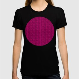 Geometric Optical Illusion Pattern V - Magenta T-shirt