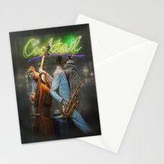 fifties cocktail jazz Stationery Cards