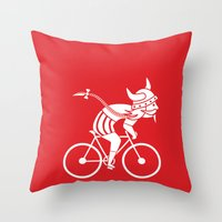 viking Throw Pillows featuring Viking by Vlad Kuzmin