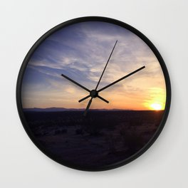 Evenings of Riding Sun Waves Wall Clock