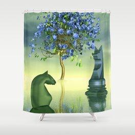just a little chess world -2- Shower Curtain