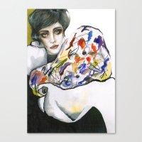 kandinsky Canvas Prints featuring Dressed in Kandinsky by Bruna Babic