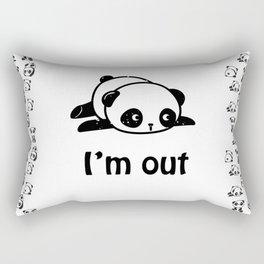 I'm out – Cute panda design Rectangular Pillow