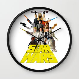 Star War Action Figures Poster - First 12 Wall Clock