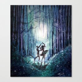Dance by the Silver Moon Canvas Print