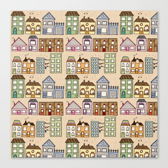 Houses Canvas Print