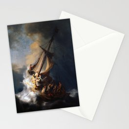 Rembrandt's The Storm on the Sea of Galilee Stationery Cards