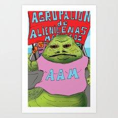Jabba the moyan Art Print