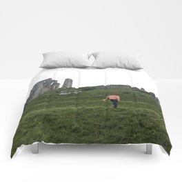 Corfe Castle Wanderlust medieval Comforters