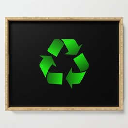 Recycle Symbol Serving Tray