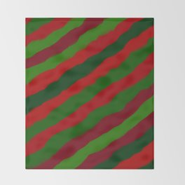 Red and Green Christmas Wrapping Paper Throw Blanket