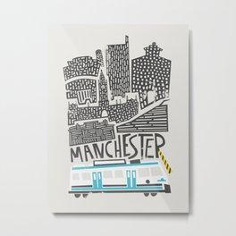 Manchester Cityscape Metal Print