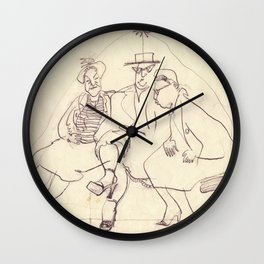 Millie's New Shoe. Copyrighted image by Dorothy Messenger Wall Clock