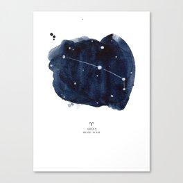 Zodiac Star Constellation - Aries Canvas Print