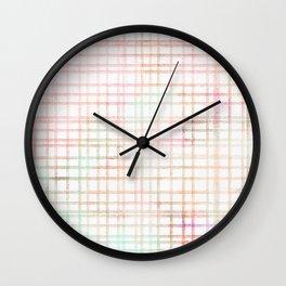 Plaid Watercolored Pattern Wall Clock