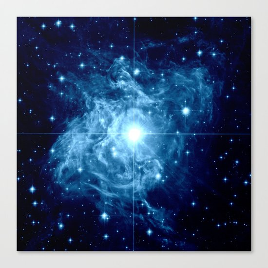 Turquoise Galaxy Star Canvas Print