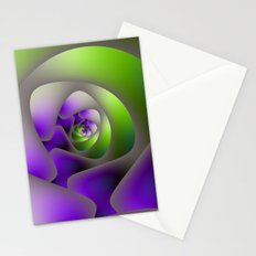 Labyrinth in Green and Purple Stationery Cards