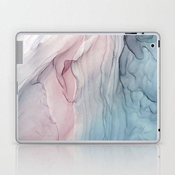 Calming Pastel Flow- Blush, grey and blue Laptop & iPad Skin