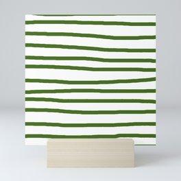 Simply Drawn Stripes in Jungle Green Mini Art Print