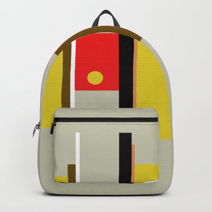 Mid Century Geometric Art Design Backpack