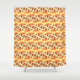 Cheesy Pizza Shower Curtain