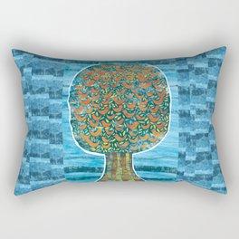 Tree and Birds Rectangular Pillow