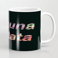hakuna Mugs featuring Hakuna Matata by Laura Santeler