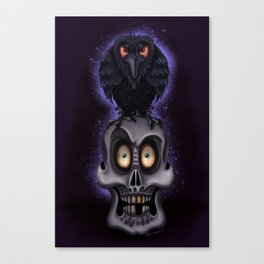 """""""The Raven"""" By Topher Adam 2017 Canvas Print"""