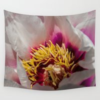 peony Wall Tapestries featuring Peony by Scott Hervieux