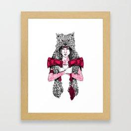 Runs with Wolves Framed Art Print