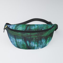 Enchanted Forest Lake Green Blue Fanny Pack