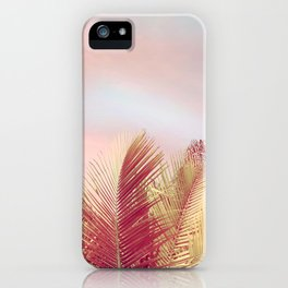 Pink Palms in the Breeze iPhone Case