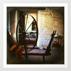 Watchin' the wheels Art Print