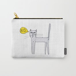 A Cat Saying No Carry-All Pouch