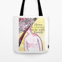 home sweet home Tote Bags featuring Home by Parker Winans