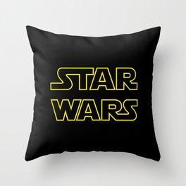 Star Logo Wars Throw Pillow