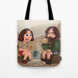 Meeting For The First Time - Last Man on Earth Tote Bag