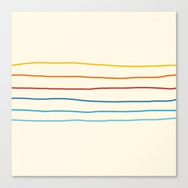 Abstract Retro Stripes #1 Canvas Print