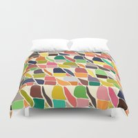 ikat Duvet Covers featuring ikat weave by Sharon Turner